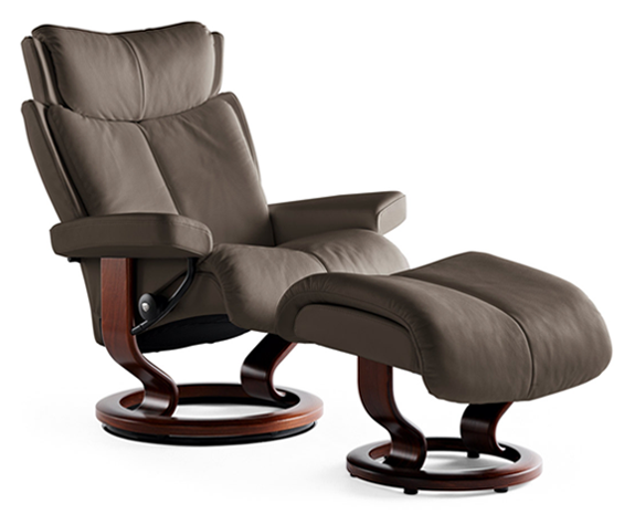 stressless magic large leather recliner chair stressless. Black Bedroom Furniture Sets. Home Design Ideas