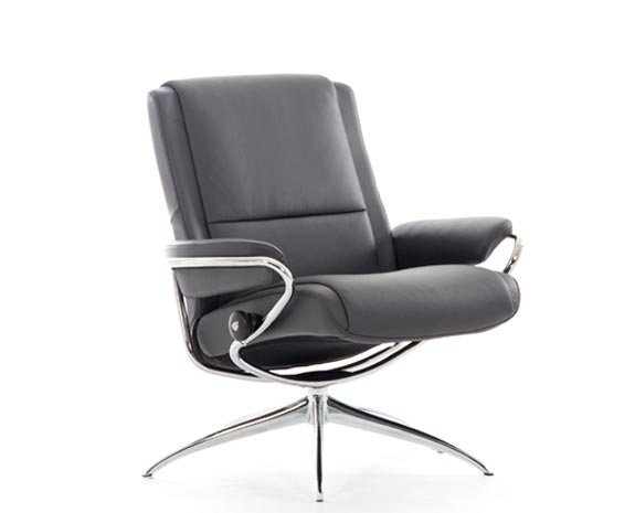 stressless paris chair low back high base