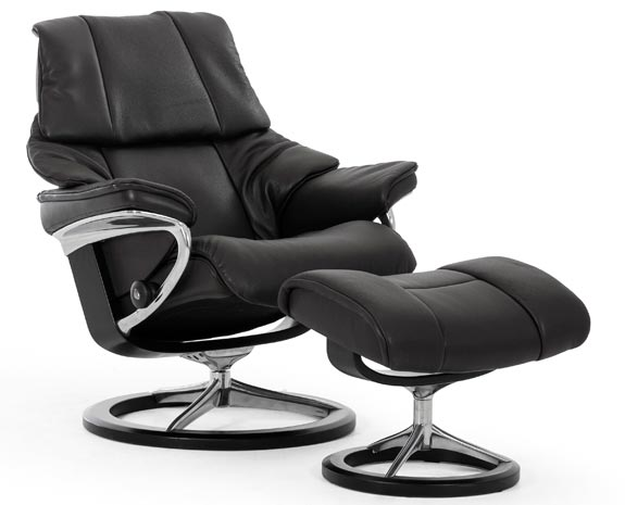 Ypperlig Stressless Reno | Leather Recliner Chairs EH-27
