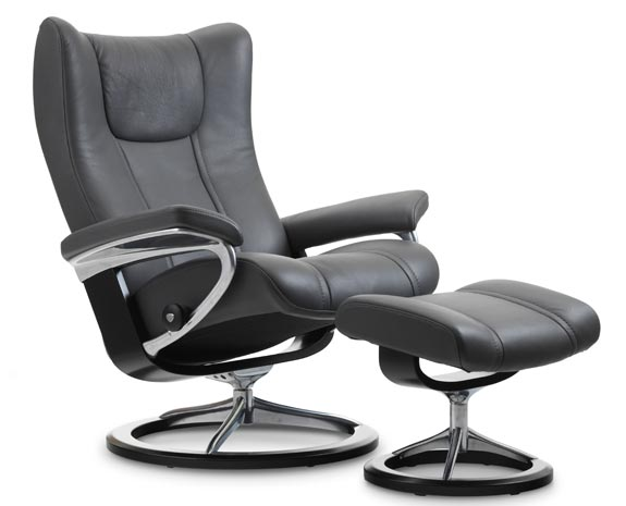 b rostuhl leder stressless wing. Black Bedroom Furniture Sets. Home Design Ideas