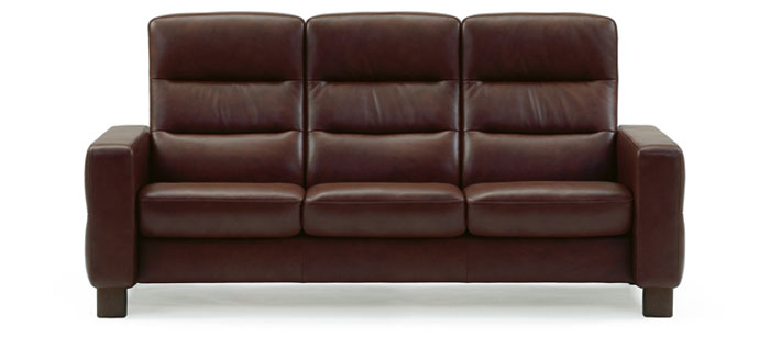 Stressless Wave Highback Sofa | Modern Recliner Leather Sofa