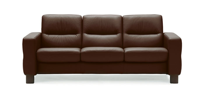 Stressless Wave low back  sc 1 st  Stressless & Leather sofas | Stressless Wave Lowback | Modern Recliner Sofas islam-shia.org