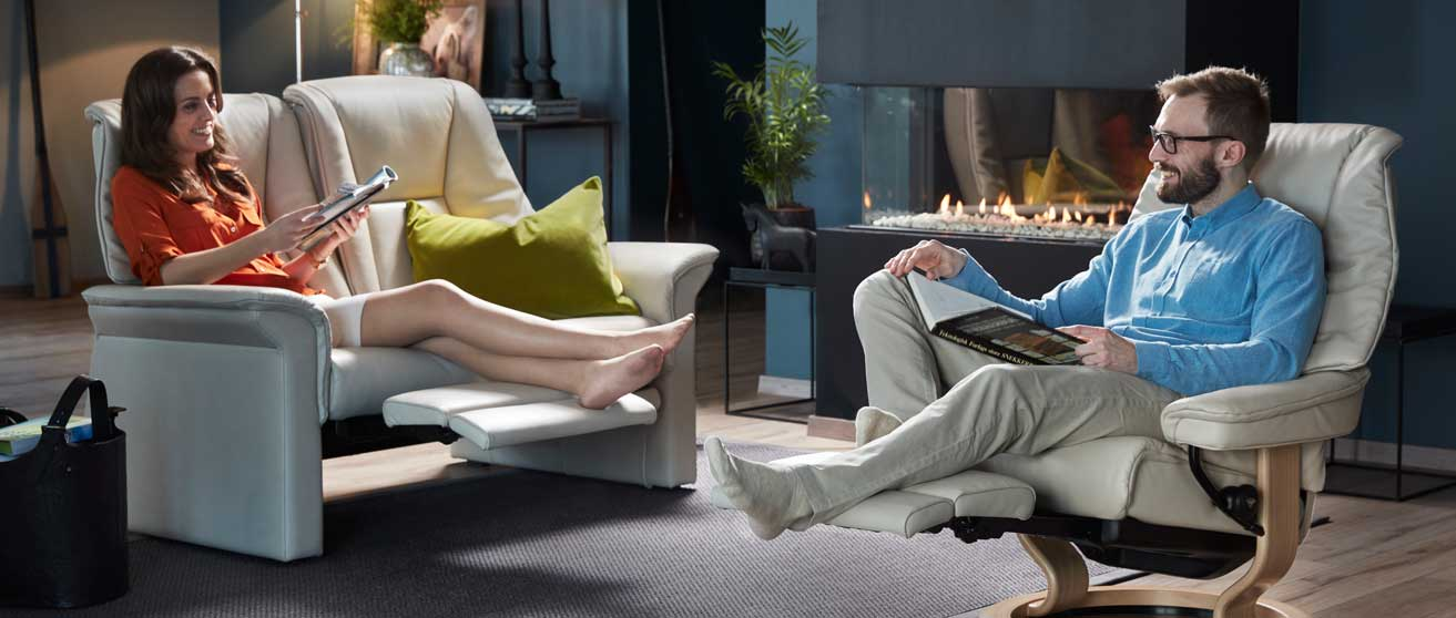 With The Legcomfort System Stressless Takes Our Unbeatable Comfort Experience A Significant Step Further New Integrated Footrest Sets Precedent
