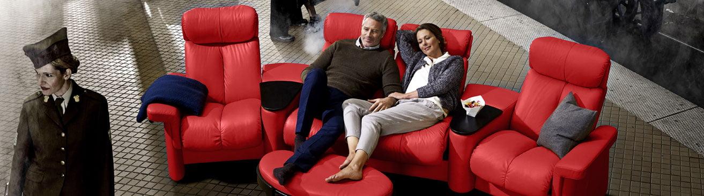 Ekornes Stressless Home Cinema, Theater Seating Furniture