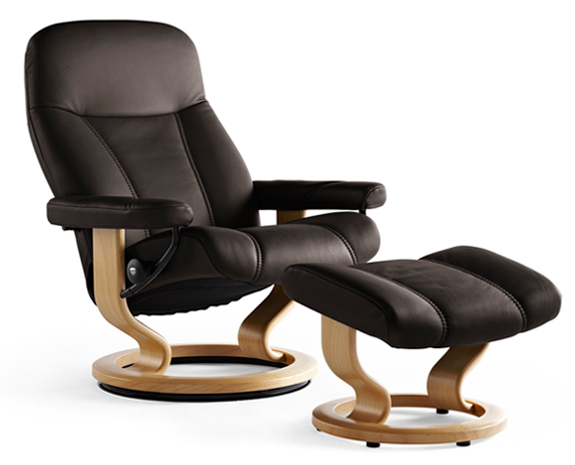 Stressless Consul Leather Recliner Chairs, Stressless Com Furniture