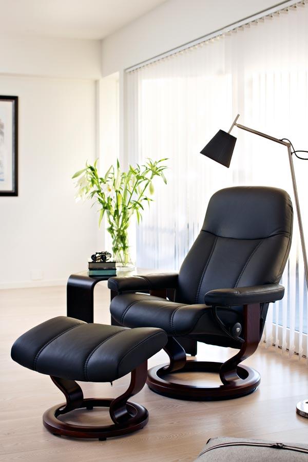 skandinavische sessel leder komfort stressless consul. Black Bedroom Furniture Sets. Home Design Ideas