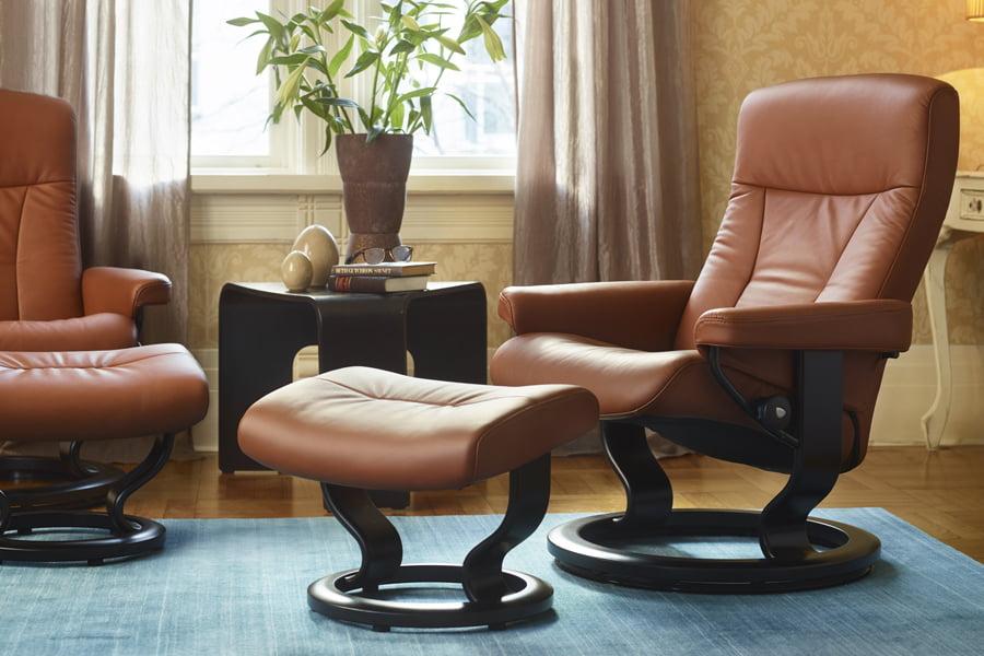 b rostuhl leder stressless president. Black Bedroom Furniture Sets. Home Design Ideas