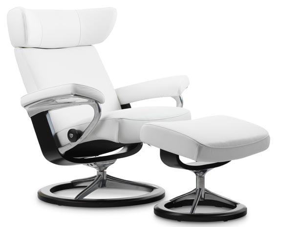 Fauteuil grand confort en cuir blanc design moderne et contemporain ...