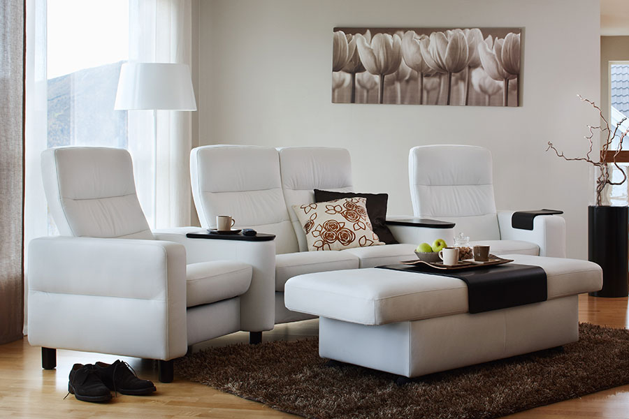 Leather Sofas Stressless Wave Highback Modern Recliner