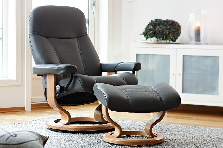Stressless Consul Leather Recliner Chairs