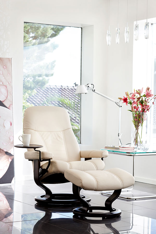 Stressless Consul Leather Recliner Chairs Stressless
