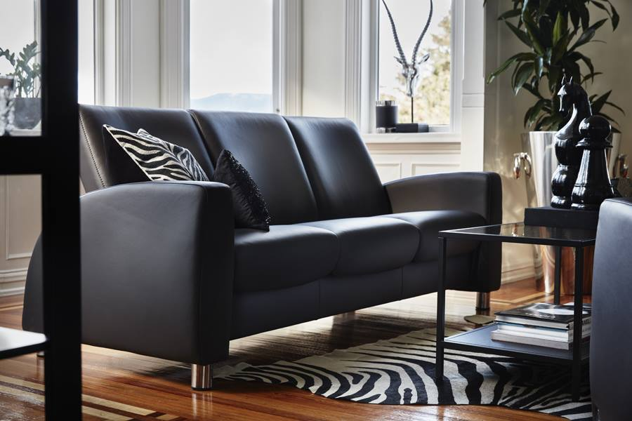 leather sofas stressless arion highback modern recliner sofas. Black Bedroom Furniture Sets. Home Design Ideas
