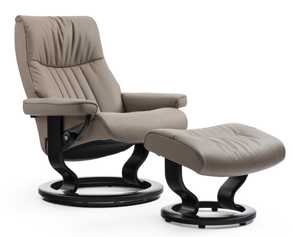 Leather recliner chairs recliners stressless - Fauteuil bureau stressless ...