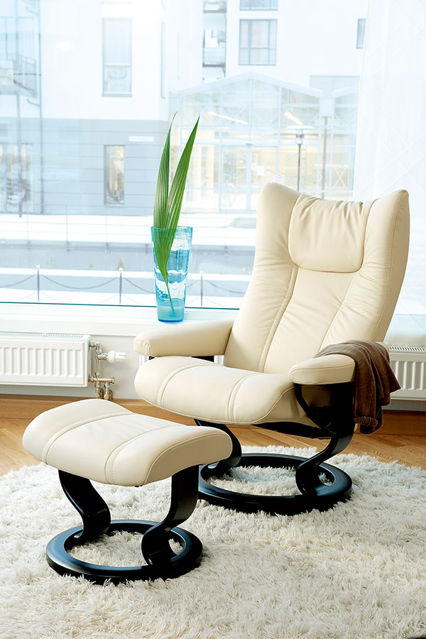 Stressless Wing Leather Recliner Chairs