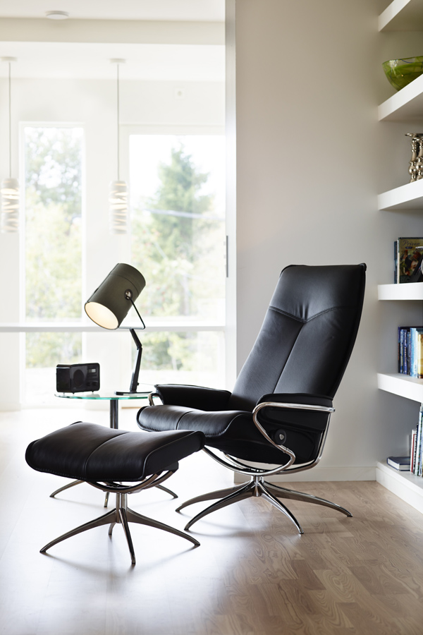 fauteuil relax cuir stressless city high back std base stressless. Black Bedroom Furniture Sets. Home Design Ideas