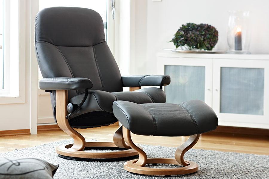 Fauteuil relax stressless consul for Cherche canape confortable