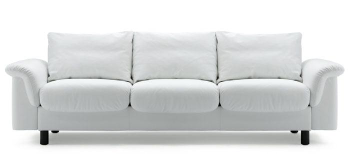 Canapé Contemporain Stressless E - Canapé cuir blanc 3 places