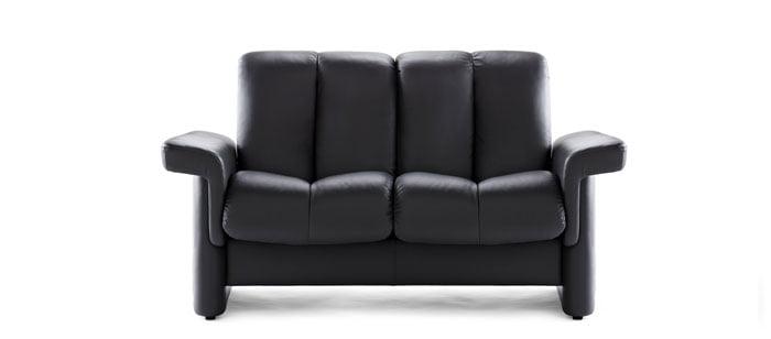 canap relax 2 places stressless legend dossier bas en cuir noir existe aussi en tissu - Canape Bas