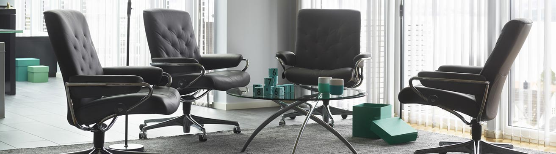 fauteuil de bureau haut de gamme stressless site officiel. Black Bedroom Furniture Sets. Home Design Ideas