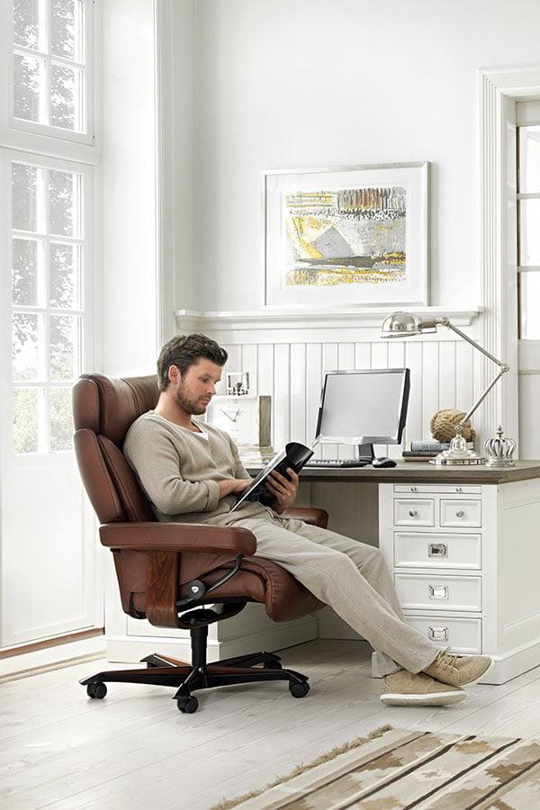 Fauteuil de bureau home office stressless magic grand - Fauteuil bureau stressless ...