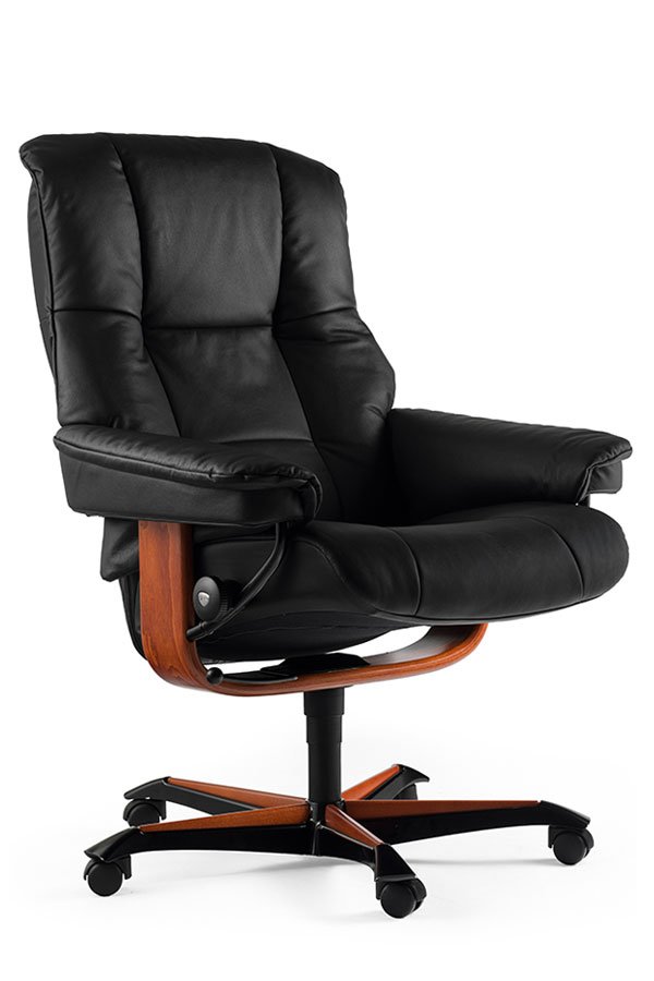 Zoom sur les roulettes et le pi tement du fauteuil de bureau en cuir grand co - Fauteuil de bureau confortable ...