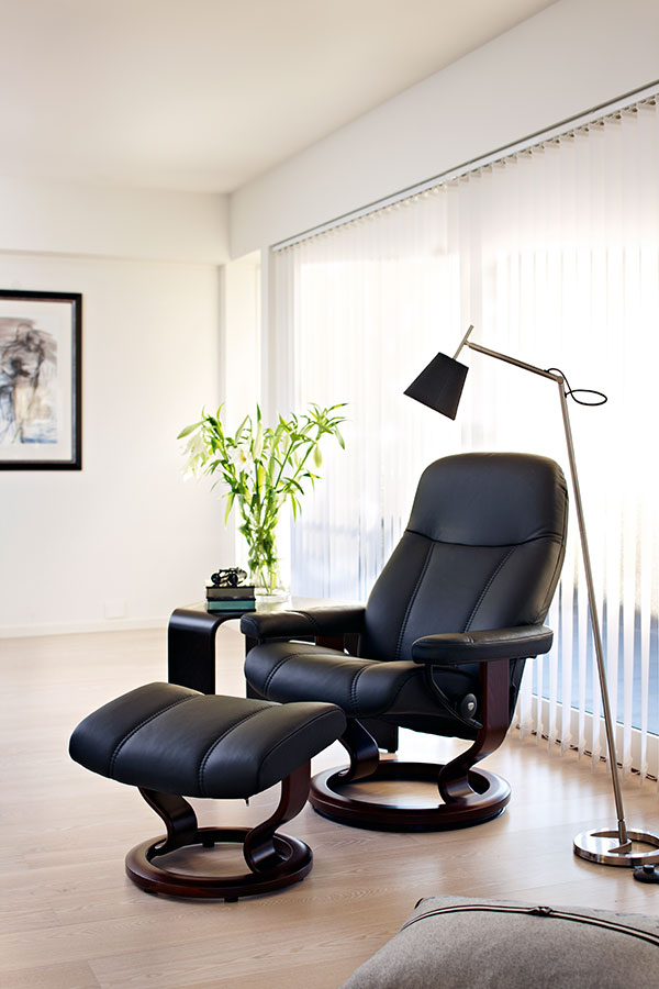 fauteuils design classiques stressless ambassador consul diplomat rafin s inclinables. Black Bedroom Furniture Sets. Home Design Ideas