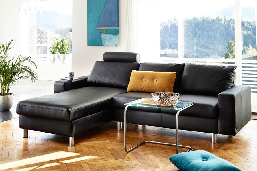 canap cuir contemporain 2 ou 3 places stressless e200 moderne el gant. Black Bedroom Furniture Sets. Home Design Ideas