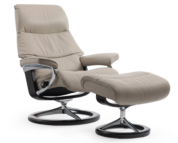 Fauteuil Moderne relax inclinable Stressless View en cuir ou tissus.